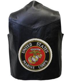 "Leather Vest Extender  4 3//4/"" Marine Logo Design New"