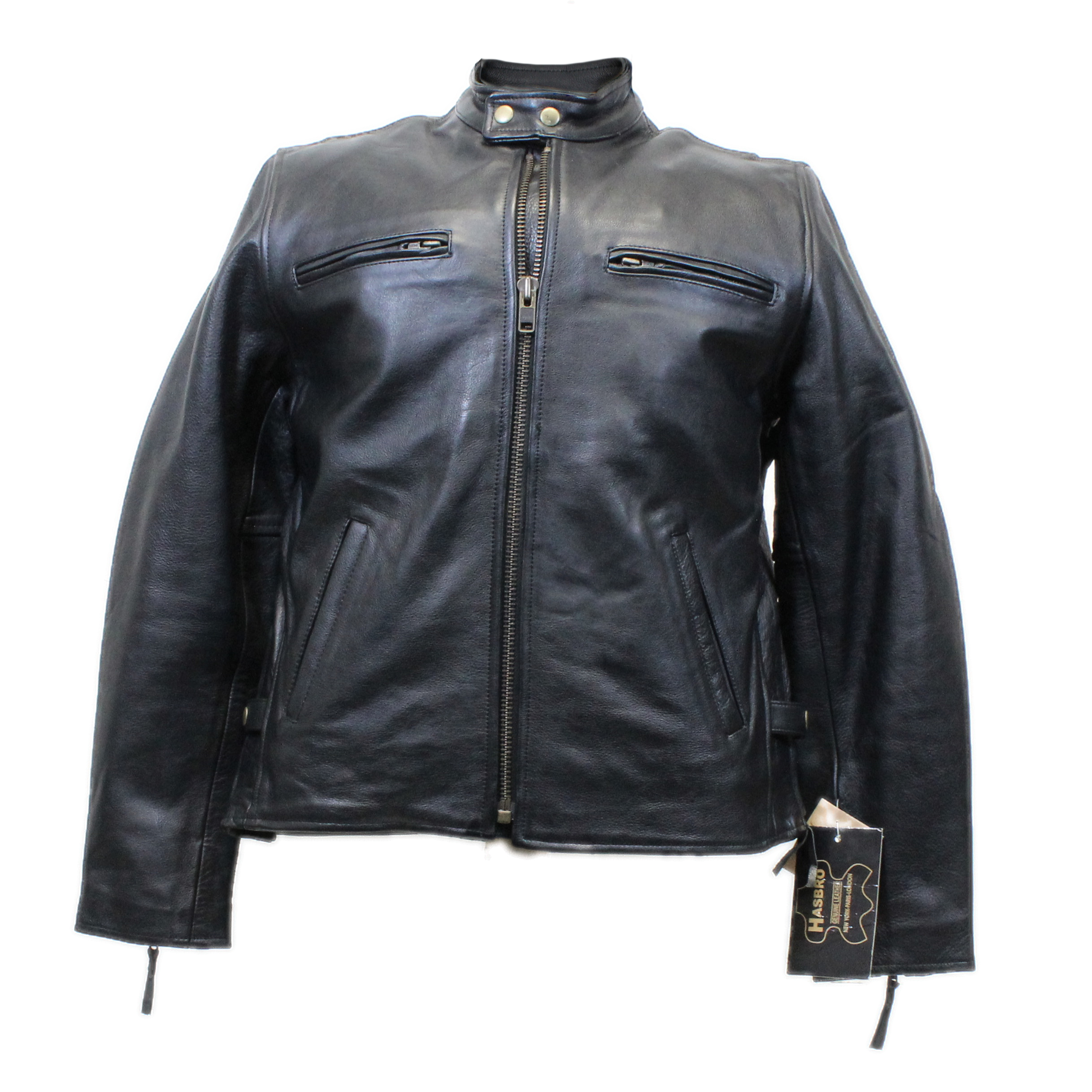 Mens Cut Off Motorcycle Waistcoat Cowhide Leather Black Biker Vest Jacket Men's Clothing Clothing, Shoes & Accessories