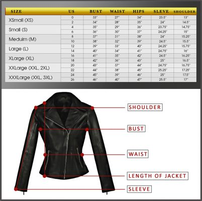 Size Chart Hasbro Leather Top Quality Bikers Leather Products
