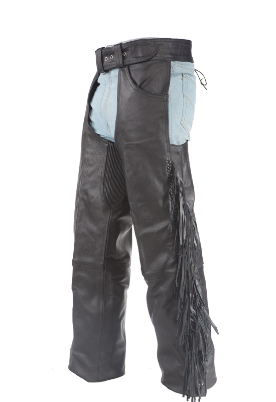65882cd01de3 Biker Leather Chaps With Braid & Fringe – Hasbro Leather   Top Quality Bikers  Leather Products & Accessories